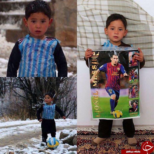 اعلام آمادگی مسی برای ملاقات با کودک افغان +عکس