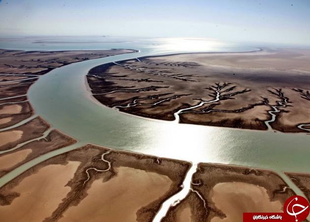 نمایی زیبا ازپر آب ترین وبزرگ ترین رودخانه ایران