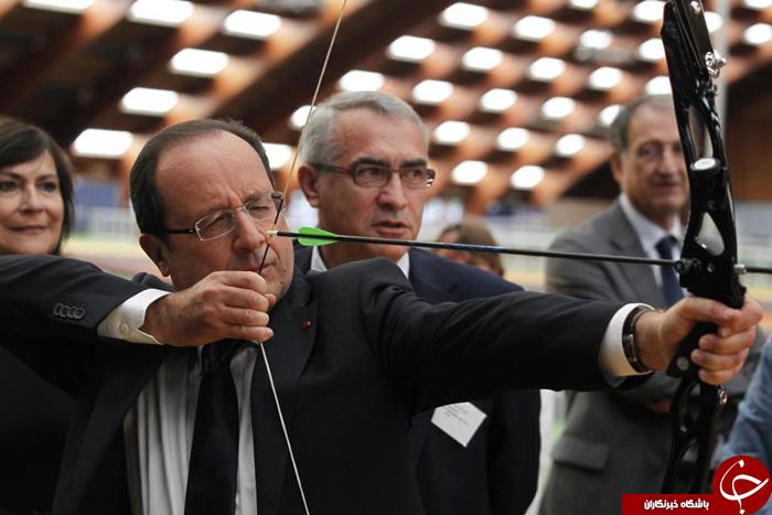 لحظات ورزشی رهبران دنیا +تصاویر