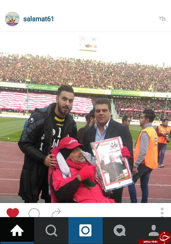 اولین حضور سوشا مکانی در زمین فوتبال پس از اتفاقات جنجالی + عکس