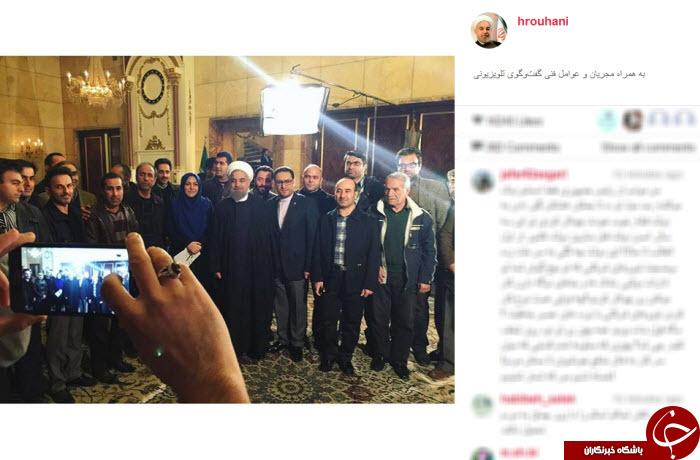 سلفی روحانی با عوامل گفتگوی تلویزیونی + عکس