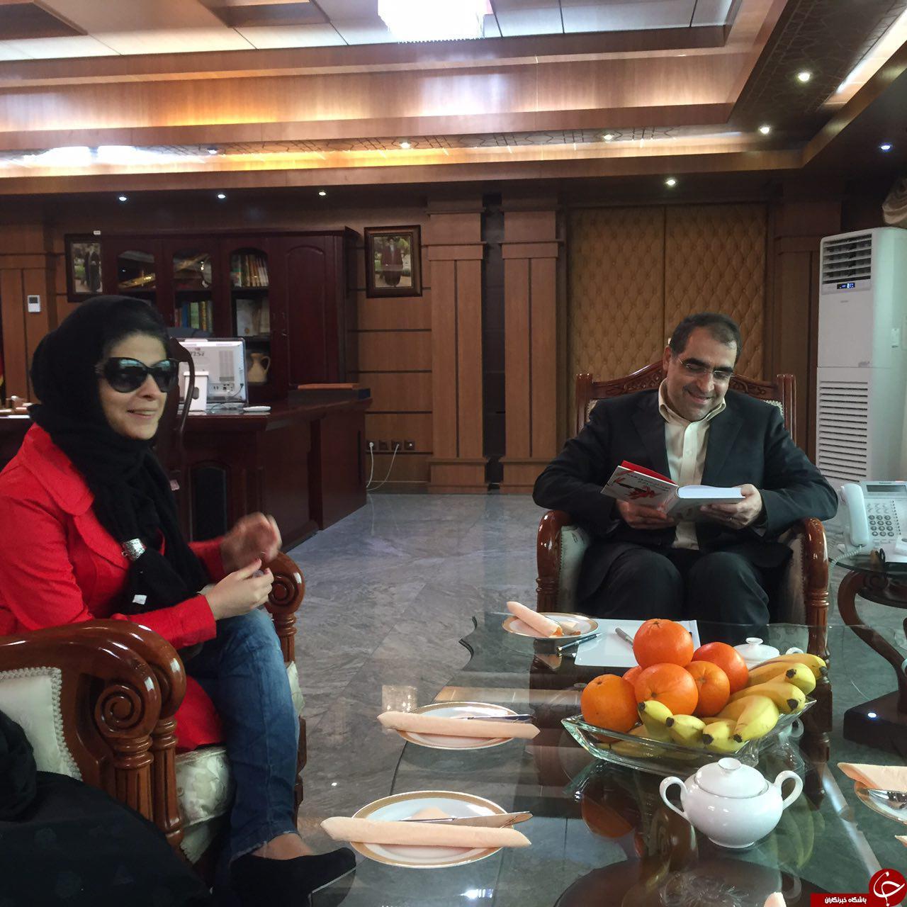 دیدار مریم حیدرزاده با وزیر بهداشت + تصاویر