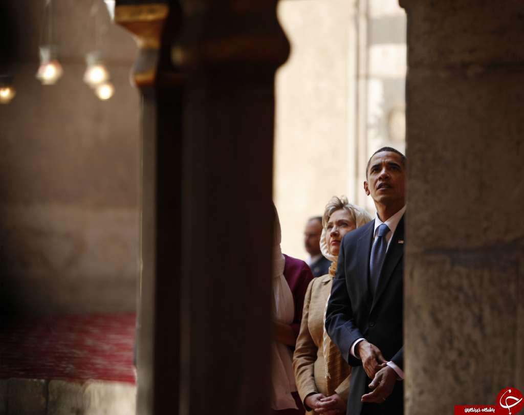 اوباما در مسجد+ عکس