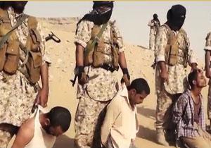 سر بریدن هولناک چهار زندانی به دست عناصر داعش + فیلم(18+)
