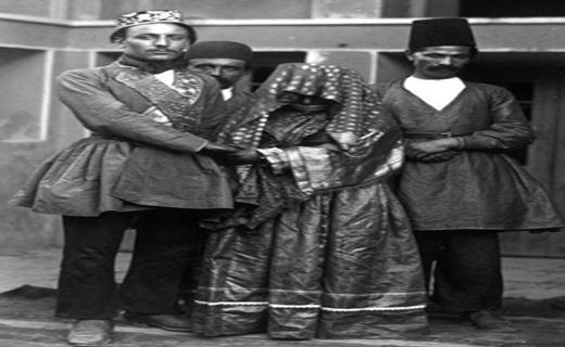 لباس عروس و داماد در دوره قاجار! ع