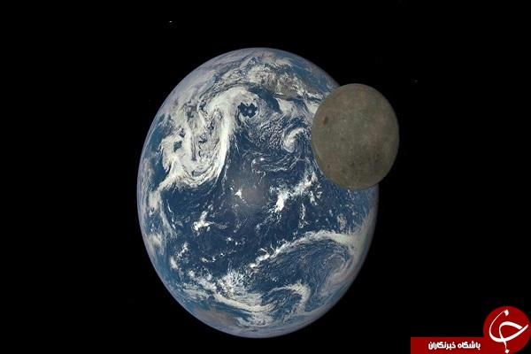 گذر ماه از مقابل زمین +عکس