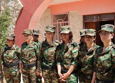 حضور چشمگیر شیرزنان در جمع نیروهای مسلح کُرد سوریه