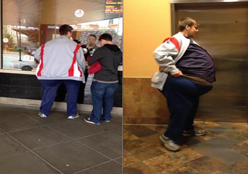مرد سنگینوزنی که پس از خروج از سالن تئاتر کاملاً لاغر شد!+ تصاویر