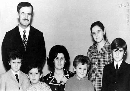 عکس خانوادگی قدیمی از مادر بشار اسد