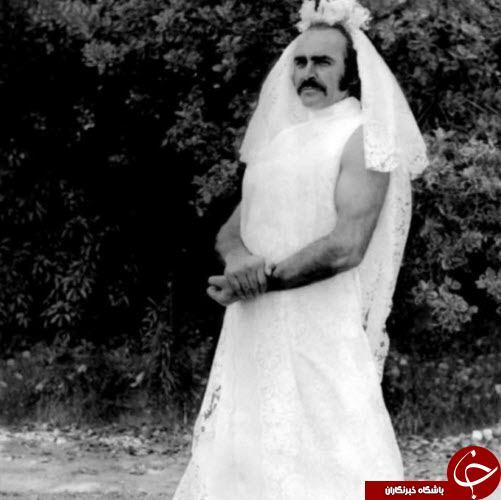 بازیگر مشهور آقا در لباس عروس