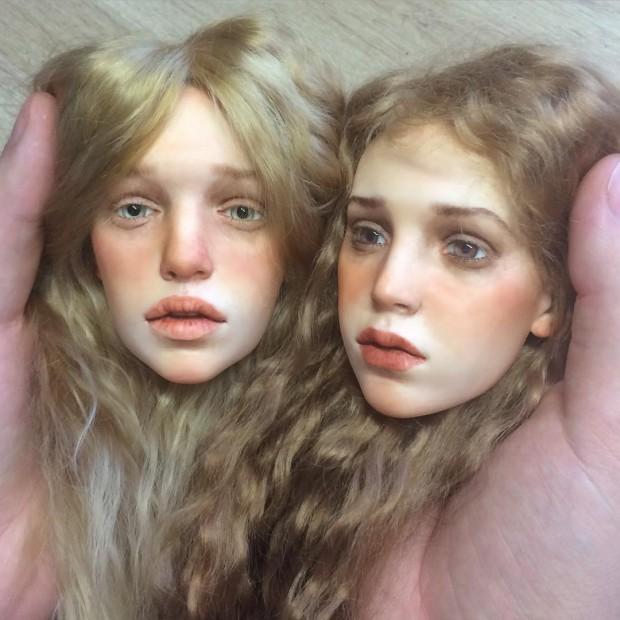 ساخت مجسمه های فوقالعاده واقعی از چهره انسان +تصاویر