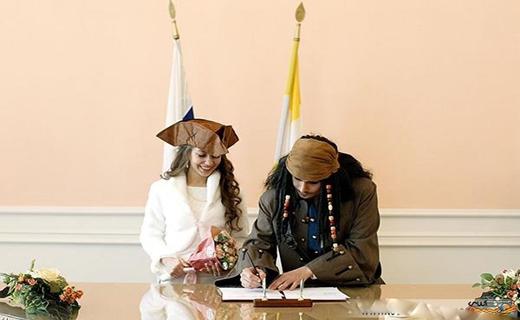 ازدواج دزدان دریایی در روسیه! +عکس