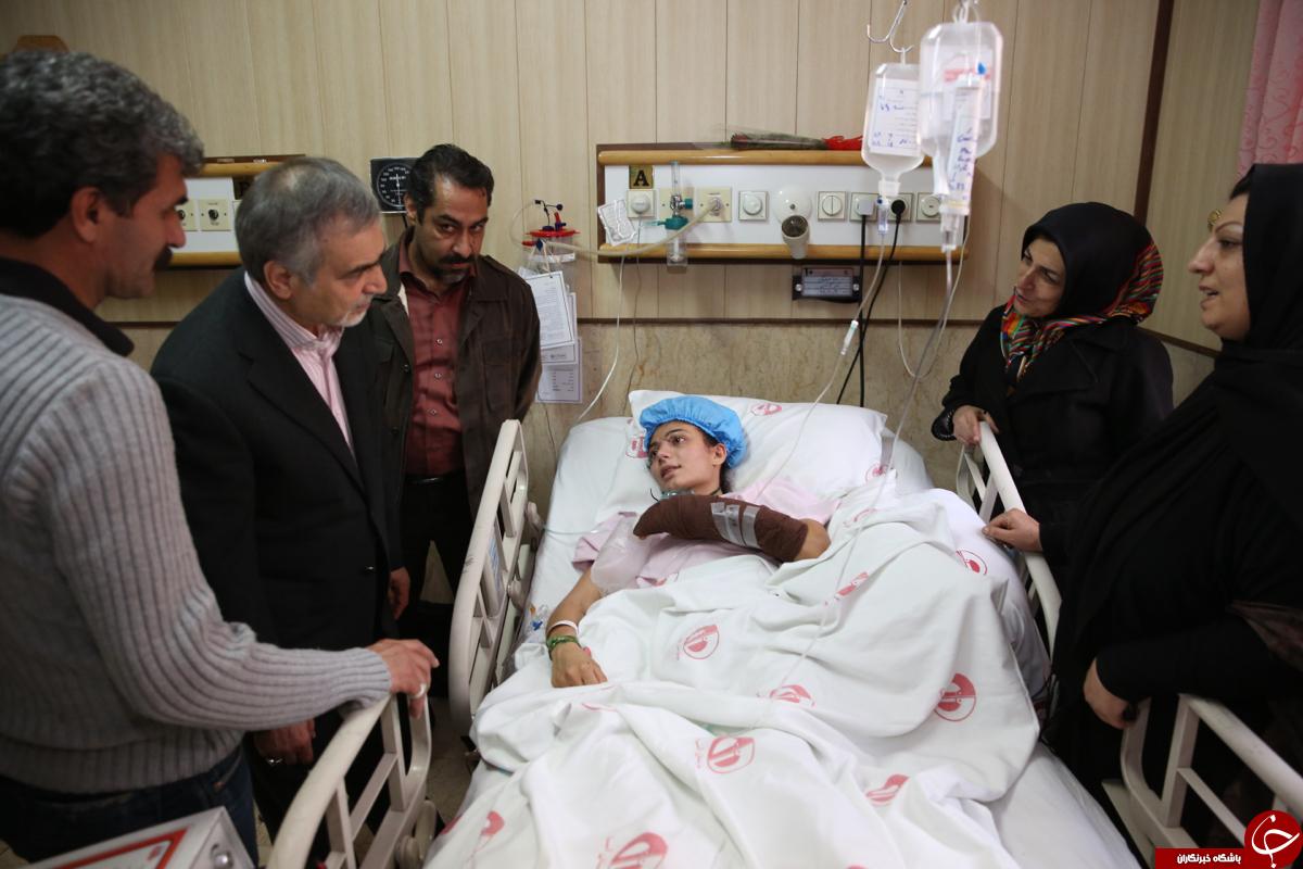 دستیار ویژه رییس جمهوری از بازیکن تیم ملی راگبی بانوان ایران عیادت کرد + تصاویر