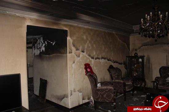 مرگ دلخراش پیرمرد 80 ساله درآتش سوزی منزل مسکونی+تصاویر