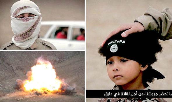اعدام 4 اسیر داعش بوسیله جلاد 4 ساله این گروه تروریستی+ تصاویر
