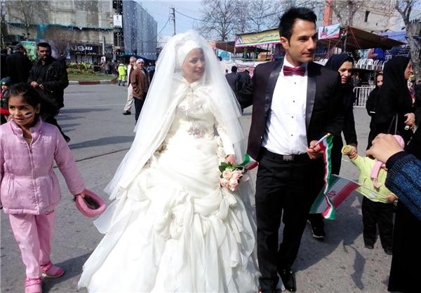 از جشن عروسی در جشن انقلاب تا حضور  جانباز قطع نخاع + تصاویر