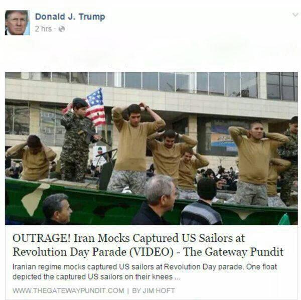 ترامپ: ایرانی ها ما را به تمسخر گرفتند + تصویر