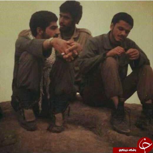 عکسی زیر خاکی از سردار سلیمانی