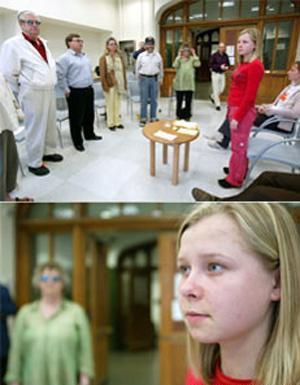 دختری که می تواند داخل بدن دیگران را ببیند!