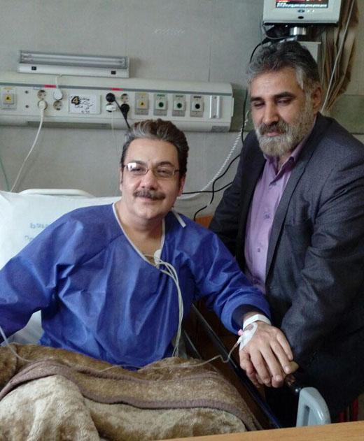 گوینده خبر در بیمارستان بستری شد
