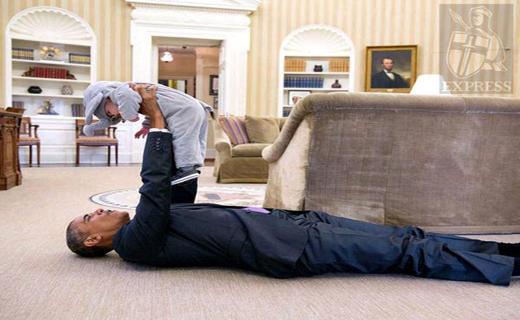 اوباما را در این حالت عجیب ببینید