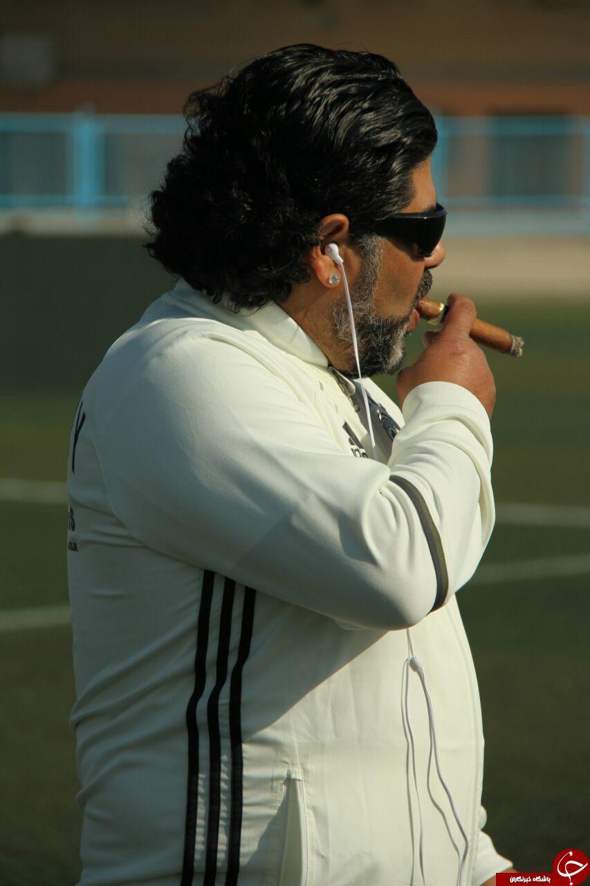مارادونا وارد قشم شد +عکس