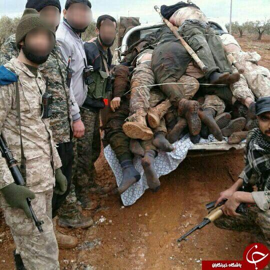 یک وانت بار جنازه داعشی مقصد جهنم +عکس
