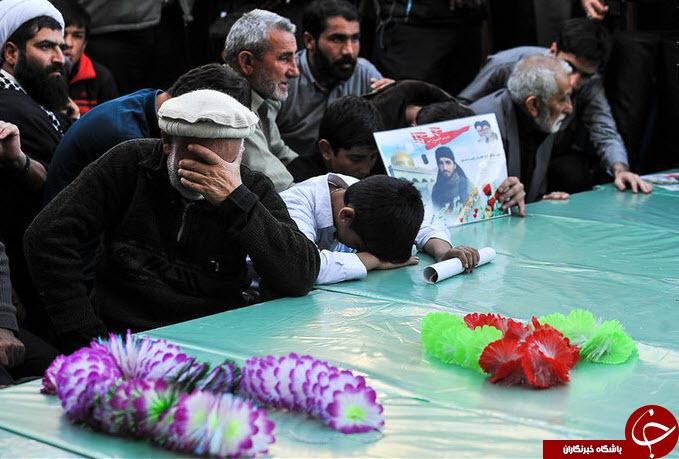 تشییع باشکوه شهدای مدافع حرم پاکستانی در قم +عکس