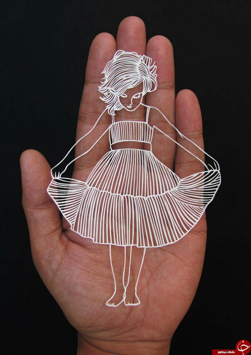 ساخت کاردستی های جالب با برش کاغذ