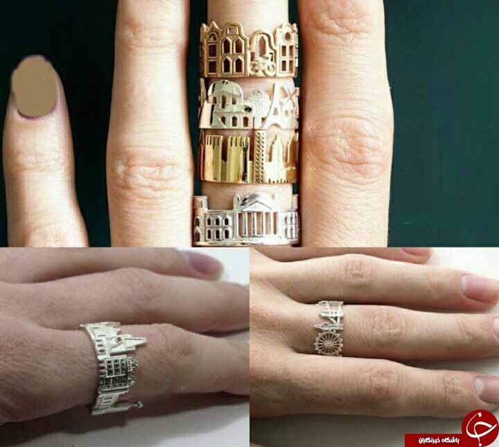دوست داشتید حلقه ازدواجتان این شکلی بود؟+تصاویر