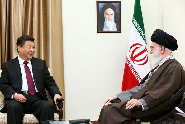 بیانات رهبر انقلاب در دیدار با رئیس جمهور چین