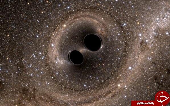برخورد دیدنی دو سیاهچاله +عکس
