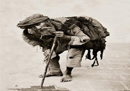 عکس: گدایی در عصر قاجار