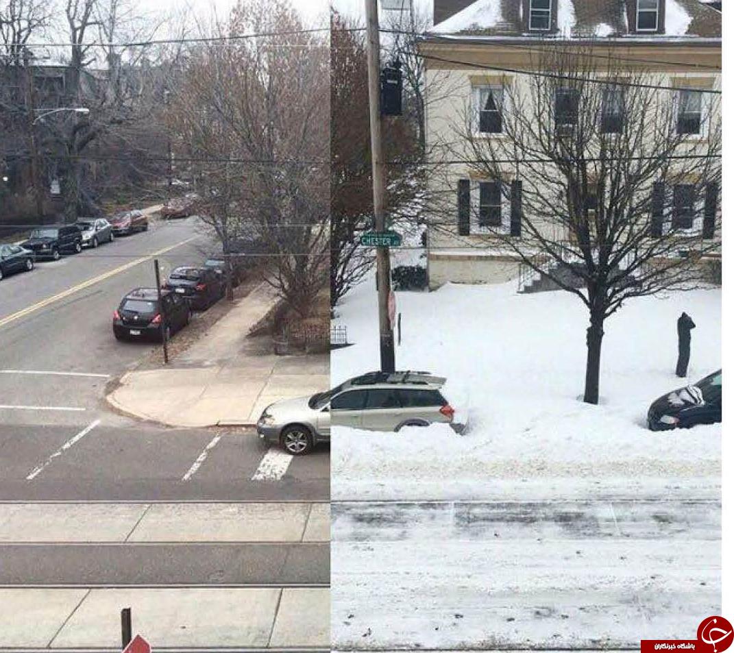 عکسی متفاوت از برف