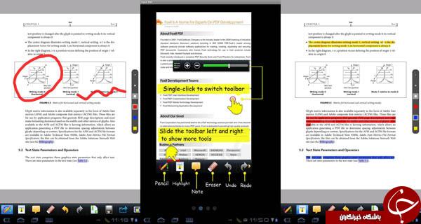 مشاهده فایل های PDF با Foxit PDF reader +دانلود