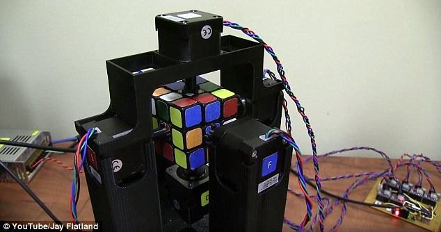 تصاویر حیرتآور رباتی که رکورد سرعت در حل مکعب روبیک را زد!