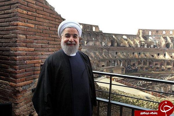 سلفی روحانی در میدان گلادیاتورها/بروسلی و فرزندش/ضرغامی در آمریکا