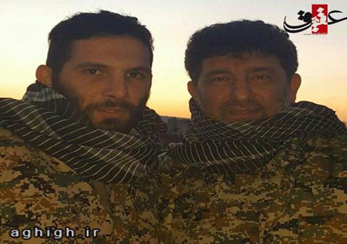 سعید حدادیان و پسرش در جمع مدافعان حرم + عکس