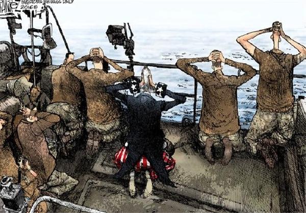 قدرت سپاه پاسداران ایران در قلم کاریکاتوریست لس آنجلسی+ عکس