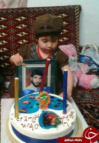 تولد دوسالگی دختر شهید مدافع حرم +عکس