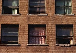 دید زدن خانه همسایه از پشت پنجره !