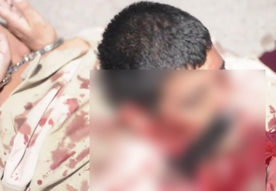 گردن زنی وحشیانه و هولناک یک نفر بدست داعش+ تصاویر(18+)
