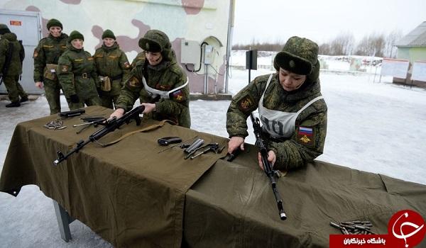 زنان سرباز روسی آماده نبردهای سخت +تصاویر