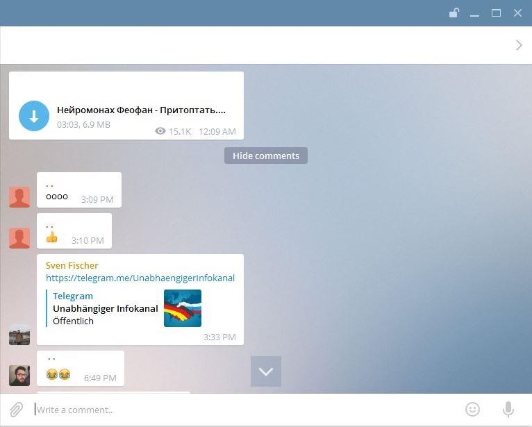تلگرام امکان نظرگذاری در کانال ها را فراهم می کند