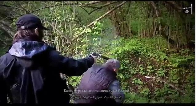 اعدام فجیع مرد روس بوسیله تروریستهای داعش+ فیلم و تصاویر