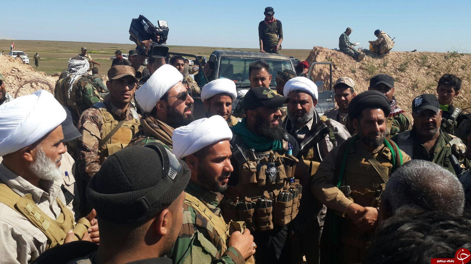 گردان های امام علی(ع) در عملیات موصل شرکت می کنند/ ابوعزراییل در خط مقدم نبرد با داعش +عکس