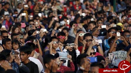 خورشید گرفتگی کامل در اندونزی+ تصاویر