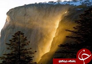 آبشار طلا در پارک ملی کالیفرنیا+تصاویر