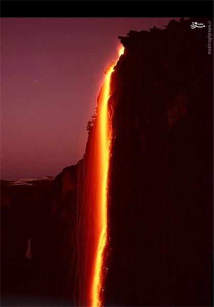 آبشاری که سالی یکبار آتشین میشود+تصاویر