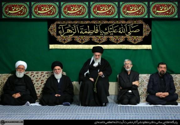 برگزاری دومین شب مراسم عزاداری حضرت فاطمه زهرا (س) با حضور رهبر معظم انقلاب